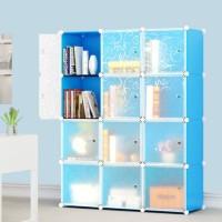 rak buku lemari book hias dekorasi ruangan vintage mudah dipasang new