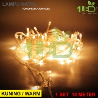 Jual Lampu Natal LED Warm White kuning Twinkle Light hias tumblr dekorasi Murah