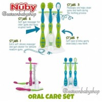Nuby Tooth And Gum Oral Care Set/Brush Baby Set/Sikat Gigi Bayi/Anak