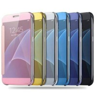 Samsung Galaxy J7 Prime/On 7 Clear View Flip Cover Mirror Case