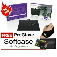 Jual Wacom Intuos 3D CTH690 Medium Black FREE Softcase + Antigores + Glove Murah