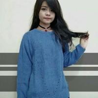 Harga atasan blouse wanita rajut murah ar19 pakaian baju korea bahan | antitipu.com