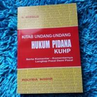 kitab undang-undang hukum pidana KUHP R.Soesilo