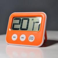 Jual Digital Timer - Masak - Kopi - Barista - LCD Besar Scrolling - Orange Murah
