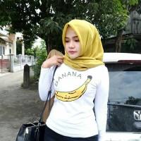 Tumblr Tee / T-Shirt / Kaos Wanita Lengan Panjang Banana