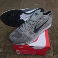Sepatu Nike Flyknit Racer Pure Platinum / Silver Grey Premium Quality