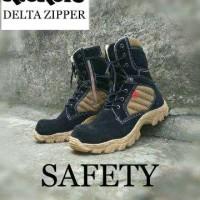 Sepatu kickers delta suede leather