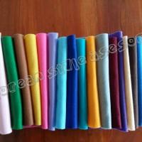 kain flanel (paket 19 warna)+- 25x25cm utk kerajinan /hidroponik