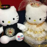 Jual Boneka hello kitty wedding couple exclusive Murah