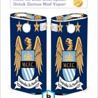 Garskin Vapor Wismec Noisy Cricket II - Man City [Motif Bisa Custom]