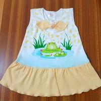 Baju Rock Bayi Perempuan umur 1 tahun gambar Frog 01