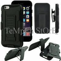 ELEGAN Heavy Duty Future Armor Impact Holster Stand case Cover Iphone