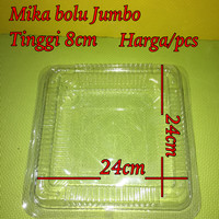plastik mika uk jumbo kotak box tempat mika plastik bening bolu besar