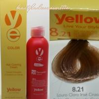 Yellow Hair Color 8.21 Light Violet Ash Blonde 100 ML1