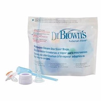 MURAH!! Dr Brown Browns Microwave Steam Sterilizer Bags Plastik Travel