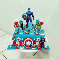 kue ulang tahun captain america fondant