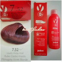 Yellow Hair Color 7.52 Mahogany Violet Blonde 100 ML1