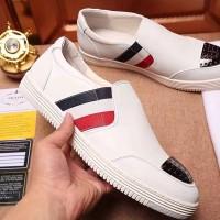 Sepatu casual sneaker loafer pria cowok prada ori kw super kulit