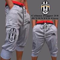 jual Promo!!! Celana Jogger 3/4 Juventus Grey | Jaket Distro Bandung