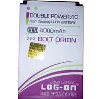 Log On Battery Baterai Double Power BOLT ORION - 4000mah