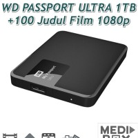 WD Passport Ultra 1TB USB 3.0 + 100 Judul Film Bluray 1080p