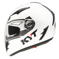 Helm KYT Alpha Venom White Full FullFace Double Visor Putih