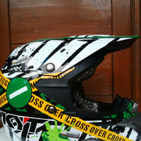 Helm KYT Moto Cros Over Cross Verboden Full Face Fullface
