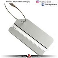 Jual Name Tag ID Tas Koper Aluminum Metal Travel Luggage Bags Tag - Silver Murah