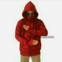 Jaket Ninja Maroon Premium / Jaket Murah / Grosir Jaket