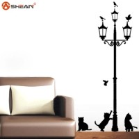 wallpaper lampu kucing ( dekorasi rumah, wall sticker, paper, hiasan )