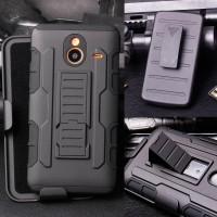 Jual Lumia 640 XL / 640XL Future Armor case cover dual layer with holster Murah