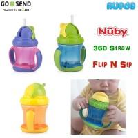 Nuby 360 Straw Cup, Botol Sedotan Bebas Posisi