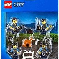 LEGO City Police Officers & Dog Minifigure Accessory Pack 850617