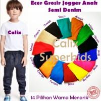 Jual Celana Jogger Anak Denim Strech Size M 3-4thn Murah