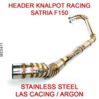 Header Pipa Knalpot Racing Satria FU F150 FI Stainless Leheran Leher