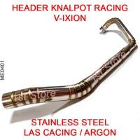 Header Pipa Knalpot Racing V-Ixion Stainless Leheran Leher Vixion