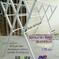 Jemuran Baju Aluminium 175 cm + Hangger