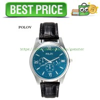 POLOV151 Jam Tangan Formal Business Watch Leather Strap (OEM) - Black