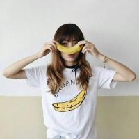 Tumblr Tee / T-Shirt / Kaos Wanita Lengan Pendek Banana