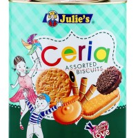 Julie's Ceria Biscuit Kue Kaleng Kue Kering Aneka Macam Rasa 530gr