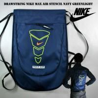 Jual Tas Serut / Drawstring NIKE MAX AIR Navy Hijau Murah