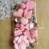 Deco Anna Sui Pink Set, resin, decocase, rhinestone, custom case