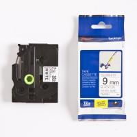 Brother Label Tape TZe-FX221/ FX 221 Black on White Flexible Tape 9mm