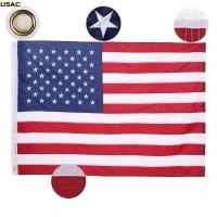 Bendera Nasional Amerika / USA FLAG Bordir Premium