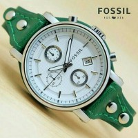 Jam tangan wanita, Fossil lether, tgl aktif/on, kw super