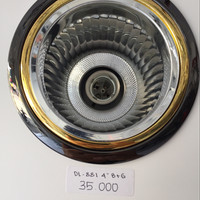 "Downlight zetalux 4"" black chrome gold"