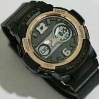 Jam Tangan CASIO BABY-G BGA-210 / HITAM ROSE GOLD TERBARU