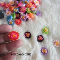 Bunga Akrilik Warna | Bunga Akrilik | Manik Bunga | Bahan Aksesoris