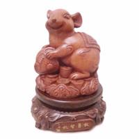 BEST SELLER pajangan shio / pajangan Tikus / patung kayu / LQ 372 TIKU