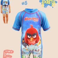 Swimwear Baju Renang Anak Angry Bird Usia 3-7 tahun